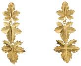 Buccellati 18K Yellow Gold Maple Leaf Clip-On Dangling Earrings