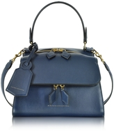 Victoria Beckham Navy Blue Mini Full Moon Bag