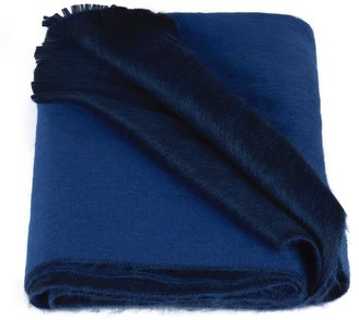 Alpaca Loca Double Scarf Royal & Cobalt Blue