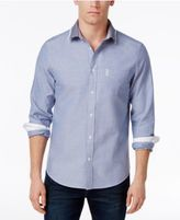 Ben Sherman Men's Flat Knit Collar Cotton Shirt