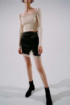 Urban Outfitters Notched Lace Trim Mini Skirt