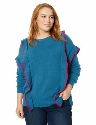 Junarose Women's Plus Size Lanse Long Sleeve Knit Pullover