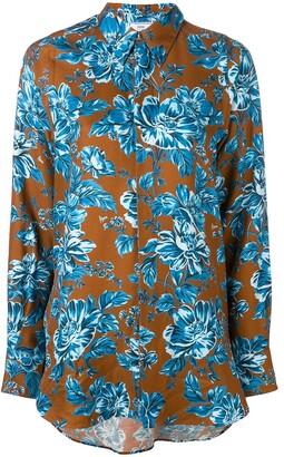 AMI Paris Floral-Print Shirt