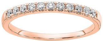 Fire Light Lab Grown Diamond 14K Wedding B and, 1/4 cttw
