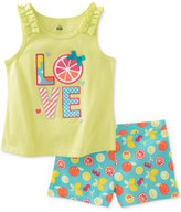 Kids Headquarters 2-Pc. Love Tank & Shorts Set, Baby Girls (0-24 months)
