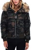 SAM. Jenny Camo Fur Trim Puffer Bomber Jacket