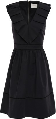 Kate Spade Pleated Cotton-blend Dress