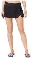 Nike Solid Element Swim Boardskirt (Black) Women's Swimwear