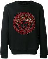 Versace embellished Medusa sweatshirt