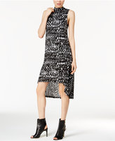 Kensie Mock-Neck Printed Dress
