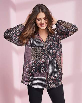 Together Patch Print Blouse