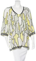 Emilio Pucci Geometric Print Three-Quarter Sleeve Top