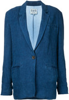 Sea classic denim blazer - women - Linen/Flax - M