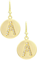 Mistraya Jewelry CZ Accented Initial Earrings - Multiple Letters