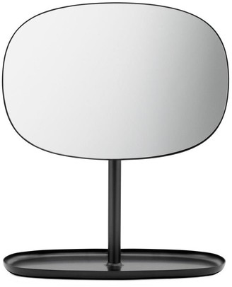 Normann Copenhagen Flip Mirror with Base - BLACK - Glass/Black