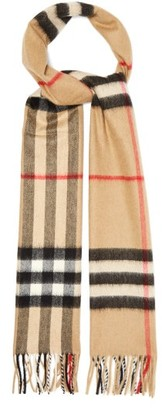 Burberry Classic-check Cashmere Scarf - Beige