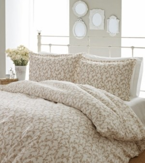 Laura Ashley Twin Victoria Taupe Duvet Set Bedding