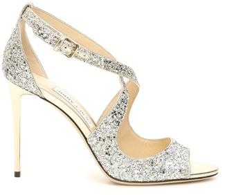 Jimmy Choo Emily Glitter Sandals 100