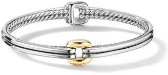 David Yurman Thoroughbred Center Link Bracelet with 18K Yellow Gold
