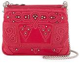 Christian Louboutin Triloubi Small Markesa Triple-Gusset Embroidered Shoulder Bag, Pink