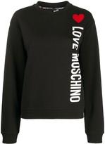 Love Moschino heart logo sweatshirt