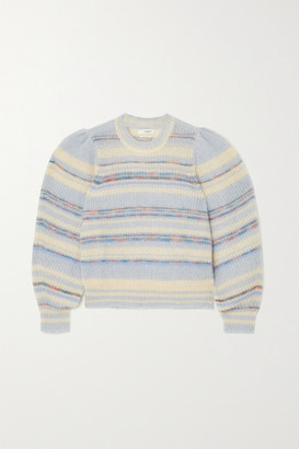 Etoile Isabel Marant Eleonore Striped Mohair-blend Sweater - Blue