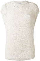 Brunello Cucinelli lace knitted top - women - Silk/Cotton/Polyamide/Acetate - One Size