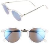 BP Women's Round Sunglasses - Clear/ Blue