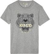 Kenzo Foil logo heathered T-shirt 4-16 years