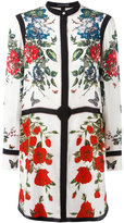 Alexander McQueen panelled floral print dress