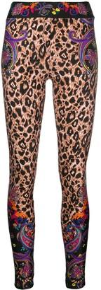 Versace Leopard-Print Leggings