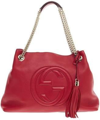 Gucci Soho Shoulder Chain Strap Medium Red