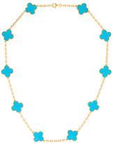 Van Cleef & Arpels Vintage Alhambra Turquoise Necklace