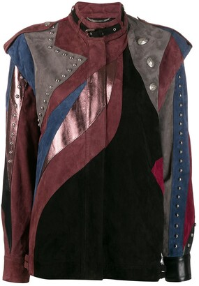 Alberta Ferretti patchwork leather jacket