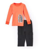 Nano Red Thermal & Black Cargo Pants - Infant Toddler & Boys