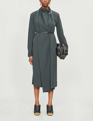 Bottega Veneta Draped high-neck wool dress