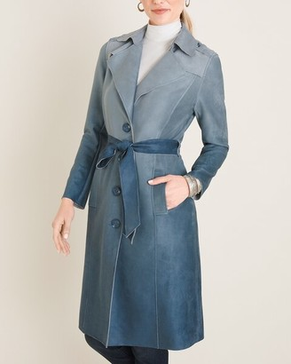 Chico's Ombre Faux-Suede Trench Coat
