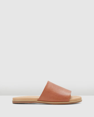 Hush Puppies Women's Brown Flat Sandals - Paradise - Size One Size, 5 at The Iconic