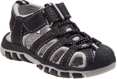 Rugged Bear Boys' Sandals Black/Gray - Black & Green Rugged Closed-Toe Sandal - Boys