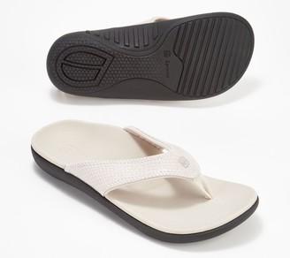Spenco Snake Print Orthotic Thong Sandals - Yumi