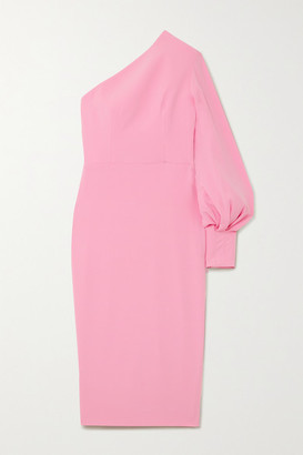 Alex Perry Warner One-shoulder Crepe Midi Dress - Baby pink
