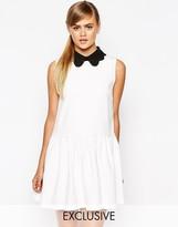 Dahlia Drop Waist Dress with Removable Collar