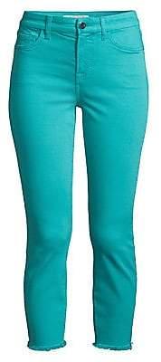 7 For All Mankind Jen7 by Women's Frayed Hem Crop Skinny Jeans