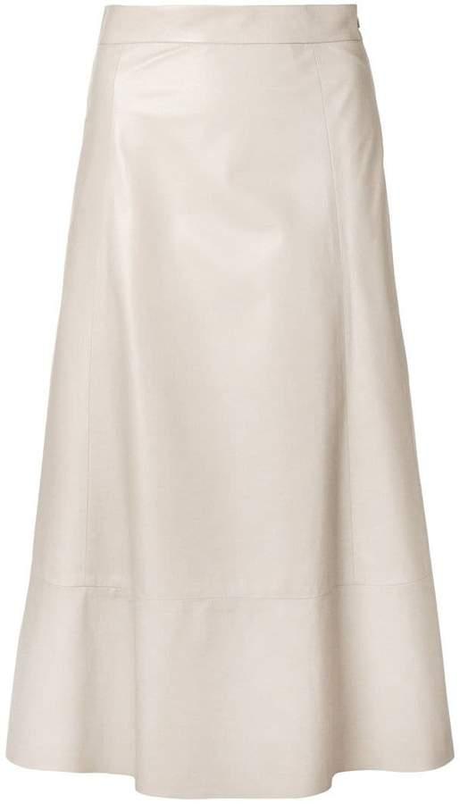 Drome midi leather skirt