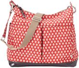 OiOi Mini Geo Hobo Diaper Bag in Poppy Red