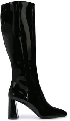 Prada patent leather boots
