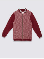 Marks and Spencer Cotton Rich Baseball Sweatshirt (3-14 Years)