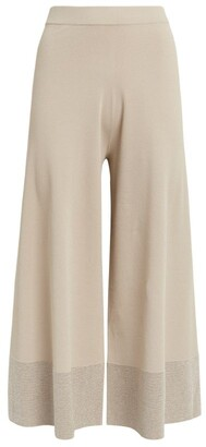 D-Exterior D.Exterior Wide-Leg Knitted Trousers