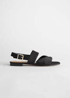 And other stories Twill Slingback Buckled Sandals