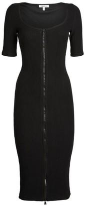 Good American Zip-Detail Midi Dress